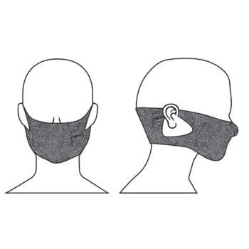 mascherina grigia